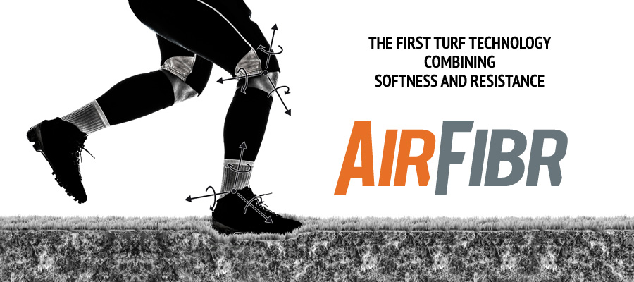 AirFibr, the first turf technology combining softness and resistance