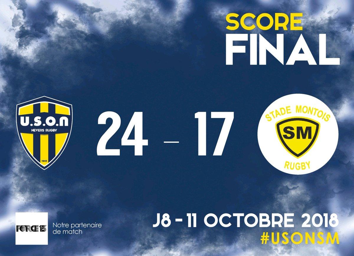 Score final du match opposant Nevers au Stade Montois